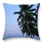 Moonrise In Maldives Throw Pillow by Corinne Rhode