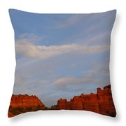 Moonrise In Sedona Throw Pillow