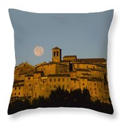 Moonrise Over Anghiarri Throw Pillow
