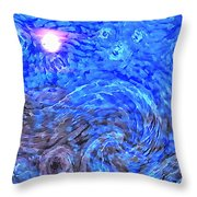 Moonrise Over Black Canyon Of The Gunnison Throw Pillow