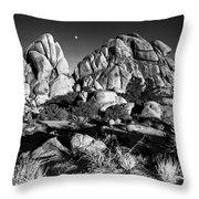 Moonrise Over Joshua Tree Throw Pillow