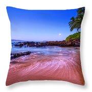 Moonrise Over Maui Throw Pillow