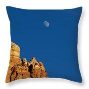 Moonrise Over Sandstone Throw Pillow