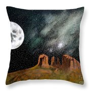 Moonrise Over Sedona Throw Pillow by John Lyes