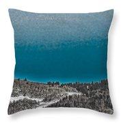 Moonrise Over The Mountain Throw Pillow