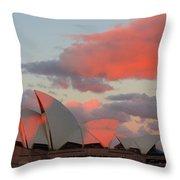 Moonrise - Sydney Opera House Throw Pillow