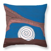 Moonscape Original Painting Throw Pillow
