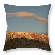 Moonset Over Mt Whitney Img 0637 Throw Pillow