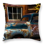 Moonshine Express Throw Pillow