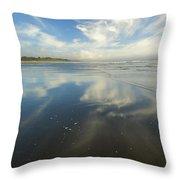 Moonstone Beach Reflections Throw Pillow