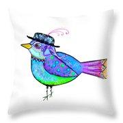 Moonworld Series - Birdy Bard Throw Pillow