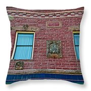 Moore Block-1896 With Gargoyle-like Features In Pipestone-minnesota  Throw Pillow