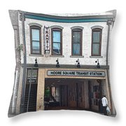 Moore Square Transit Station Throw Pillow