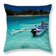 Moorea Lagoon No 12 Throw Pillow