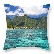 Moorea Lagoon No 2 Throw Pillow