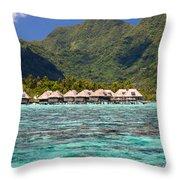 Moorea Lagoon No 3 Throw Pillow