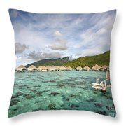 Moorea Lagoon Resort Throw Pillow