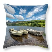 Moored Boats  Throw Pillow by Adrian Evans