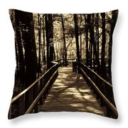 Moores Creek Battlefield  Nc Swam Bridge  Throw Pillow