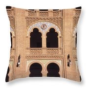 Moorish Arches Madrid Throw Pillow