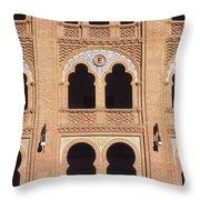 Moorish Arches Madrid Throw Pillow