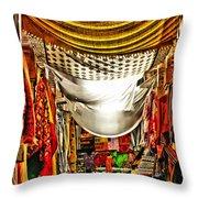 Moorish Market In Granada 2 Throw Pillow