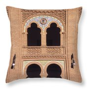 Moorish Windows Madrid Throw Pillow