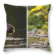 Moose And Baby 5 Throw Pillow