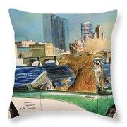 Moose Rapids Or Moose City Drive Throw Pillow