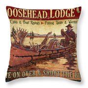 Moosehead Lodge Throw Pillow