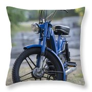 Moped Throw Pillow