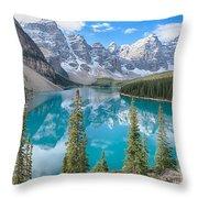 Moraine Lake - Banff National Park - Canada Throw Pillow