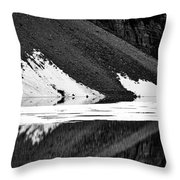 Moraine Lake Abstract - Black And White #2 Throw Pillow