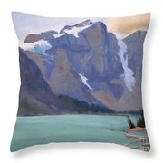 Moraine Lake Banff Throw Pillow