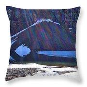 Moraine Lake Lens Flare Throw Pillow