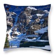 Moraine Lake Reflection Abstract Throw Pillow