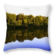 Moraine View State Park Pano 20140718-01 Throw Pillow