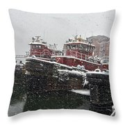 Moran Towing Throw Pillow