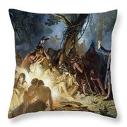 Moravian Missionary Throw Pillow