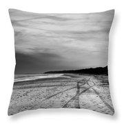 More Beach Tracks Throw Pillow