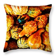 More Beautiful Gourds - Heralds Of Fall Throw Pillow