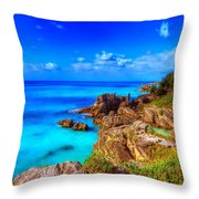More Bermuda Throw Pillow