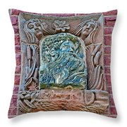 More Figures On Moore Block In Pipestone-minnesota Throw Pillow