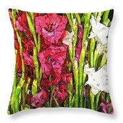 More Flowers 3 Throw Pillow