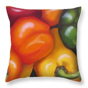 More Peppers Throw Pillow