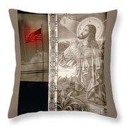 More Prayers For The Nation Throw Pillow by Joe Jake Pratt