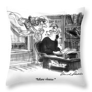 More Sleaze Throw Pillow