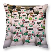 More Snowmen Throw Pillow