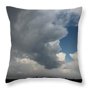 More Strong Cells Moving Over South Central Nebraska Throw Pillow