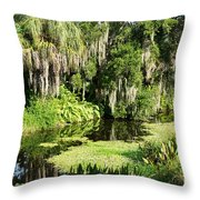 More Water And Green Throw Pillow